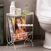 Wholesale Magazine storage rack iron storage rack merchandizes newspaper rack bathroom shelf corner bracket