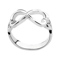 Wholesale 925 Sterling Silver Jewelry Hearts Bowknot Silver Rings Infinity Rings Engagement Betrothal Rings silver rings