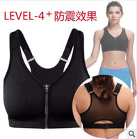Cotton bra nylon spandex - PROMOTION hot sell free ship Racer Profession Back Level Maximum Control Run Sports Bra color A B C D D E F