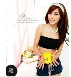 Wholesale PROMOTION HOT SELLING Women s Sexy Lace STRAPLESS Casual Crop Boob Tube Top Bandeau Bra Strapless Seamless Solid pc
