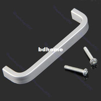 Cheap Free Shipping 10pcs lot Aluminum Alloy Cabinet Bathroom Kitchen Cupboard Drawer Door Knob Handle Grip