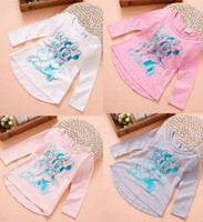 Cheap Free Shipping 2014 Baby Girls 12M-2Y 100% Cotton Minnie Mouse Long Sleeve T-Shirt Cartoon Girl Jumper Sweatshirts 6pcs lot