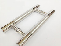 interior door handles - Stainless Steel Pull Push Handle For Wood Glass Entry Front Door Exterior Interior