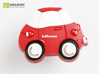 Wholesale 10Pcs Color Baby Cartoon Red Car Plastic Kitchen Cabinet And Furniture Door Knobs