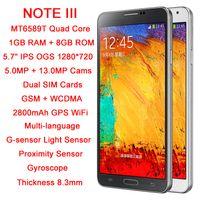 "Star 5.7 Android 2014 NO.1 N3 original phone android MTK6589T Quad Core 5.7"" IPS 1280*720 1GB RAM 8GB ROM 13.0MP dual sim 1:1 Note 3 N9000 N9005"
