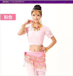 Wholesale Belly dance lace patchwork set costume clothes top training pants drop shipping