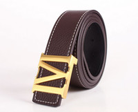 Fashion Gold M Buckle Genuine Leather Belt Waistband (6 colo...