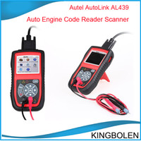Wholesale 2014 Autel Autolink AL439 Auto MultiMeter AVOMeter Scanner Color Screen OBDII Diagnostic Engine Code Scanner AL DHL Fedex