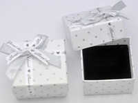 Wholesale 100pc New Arival White Square Paper Jewelry Gift Box Display Package For Rings Earrings J94
