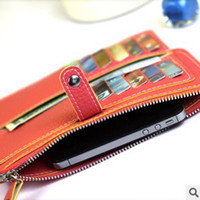 Cheap Woman Envelope Wallet PU Flip Leather Case Skin Cover Pouch Coin Money Bag for Iphone 4 4S 5 5S 5C Samsung Galaxy S3 S4 Note 2 3 HTC
