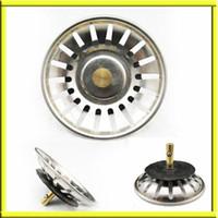 basket strainer waste - Kitchen Basin Drain Dopant Sink Waste Strainer Basket Leach Plug Stainless Steel