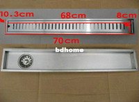 Cheap 70cm x10cm Large-traffic stainless steel bathroom shower long floor waste floor linear side waste drain bc05