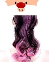 Wholesale Ombre Color curly ponytail