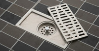 bathroom grate - 20cm stainless steel nickel bathroom kitchen shower square floor waste grate sanitary floor drain dl04