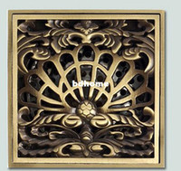 Wholesale New Antique Brass Art Carved Inch Floor Wast Grate Drain Overflow Fitting