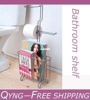 magazine rack - Multifunctional storage rack shelf bathroom Angle Shelf magazine rack toilet paper holder