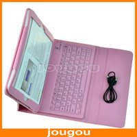 Wholesale Wireless Bluetooth Keyboard PU Leather Pouch Cover Case For iPad Air Tablet With Stand Function