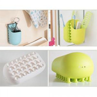 Cheap Free shipping new creative household items Bathroom suction cup storage rack toothbrush holder shelf 1kit=2pcs