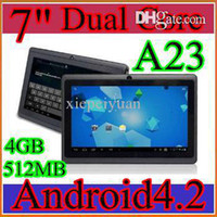 Wholesale DHL A23 hot Q88 quot PRO Dual Core Epad Tablet PC Android MB GB GHZ JP7