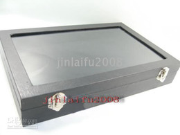 BLACK NECKLACE BRACELET DISPLAY CASE BOX TRAY SHOWCASE
