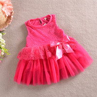 Cheap foreign trade children's clothing wholesale 2014 spring girls princess dress sleeveless lace vest dress 142