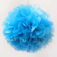 Wholesale Hot Sale quot cm Aqua Blue Tissue Paper Pom Poms Flower Wedding Party Decoration