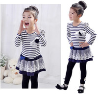 Wholesale 2014 new Girl Princess Dress New Fashion Brand Children Girls Dress Hot Saling Baby Kids Clothing Set