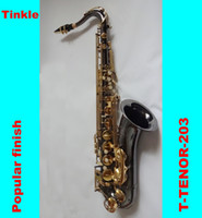 Wholesale EMS Promotion Price High Performance price ratio Golden keys Black Nicekel Bb tenor saxophone