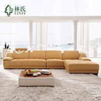 Wholesale mattressLim Furniture Modern L shaped leather sofa living room sofa corner sofa brand WQ6881bedroom furniture