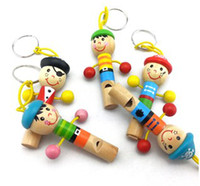 Wholesale 2014 Pirate Captain Series Lovely Puppet Whistles Cute Kids Toys Wooden Educational Toys B2720
