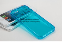 Wholesale Colorful Super Thin Slim Clear Flexible TPU Gel Skin Transparent back Soft Case Cover For Iphone S S C iPhone6 Plus