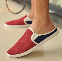 Cheap 2014 New Free shipping summer men canvas shoes british style pedal lounged shoes breathable sneakers autumn&spring