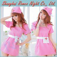 Wholesale Pretty Cute Nurse Bedroom Flirt Cosplay Dress Costumes Set Sexy Lingerie Babydoll Suit