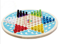 Wholesale New style in checkers adult And the children s Puzzle video game educational wooden toys