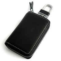 Wholesale New Alloy Keychain Genuine Leather Car Key Case Hold Cover No Logo