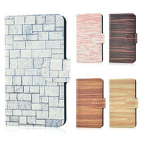 Wholesale For TCL S900 Hot Colorful Wood Wall Graffiti Design Magnetic leather flip PU case cover