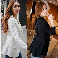 Wholesale women s autumn and spring slim ladies chiffon blazers medium long ladys outer suits