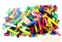Wholesale free ship birthday party supplies children s toysbirthday blowing dragon cheerleading Whistle blowing dragon roll novelty toys