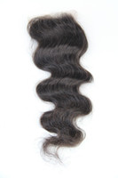 Brazilian Hair Natural Color Body Wave Top Piece Closure Body Wave Silk Base Lace Closure Swiss Front Lace Human Hair Natural Color Brazilian Hair Closures Breathable