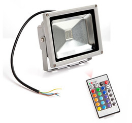4pcs 16 Colors Led Flood light 20W White RGB Flood Light Outdoor Wall Landscape Lamp IP66
