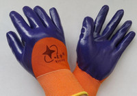 Wholesale Gloves work gloves dipped gloves xingyu high quality oil nylon nitrile gloves