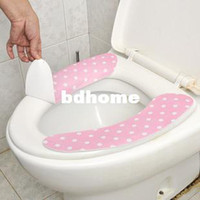 Eco-Friendly   (Minimum order $5,can mix) Hygienic Comfortable Toilet Seat Sticky Pads Cover Mats CM1157