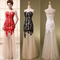 Modest Red Black Backless Sweetheart Evening Gowns White Wit...