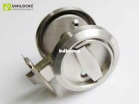 Wholesale 5 Sets Stainless Steel Recessed Cup Handle Privacy Sliding Door Locks