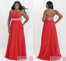 Wholesale 2014 Sexy Blush Plus Size Evening Dresses Sweetheart Chiffon Backless Beaded Floor Length Party Prom Dress Formal Gowns Pageant Dress Cheap