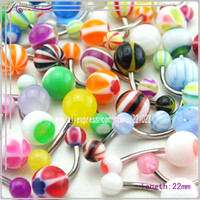 Belly Chains Body Jewelry Fashion Free shipping,2013Wholesale Bulk 40pcs lots Body Piercing Eyebrow Jewellery Belly Tongue Bar Ring dq0169