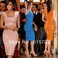 Cheap 2014 New Arrival Sheath Tight Knee Length Zipper Back Cap Sleeve Pink Star Prom Party Dress Evening Gown Robe De Casual Dresses
