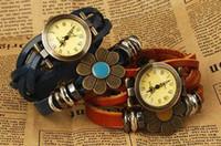 Antique antique platinum watch - Fashion Long Multi turn Wild Retro Leather Bracelet Watch Quartz Watch For Women