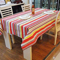 Wholesale 70 cm cotton canvas rainbow TABLECLOTH Table cloth High quality canvas made home restaurant fashion nice table cloth Exclusive item