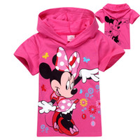 Wholesale New Minnie Mouse clothes cartoon girls hoodies children s clothing short sleeve tops children t shirts